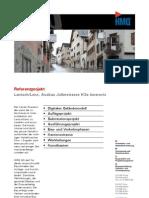 Lantsch/Lenz GR, Ausbau Julierstrasse H3a innerorts durch die HMQ AG