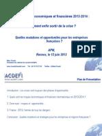 Presentation Marc Touati-Rennes 2013