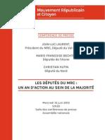 Députés MRC - un an d'action au sein de la majorité
