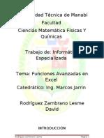 Funciones Avanzada Excel