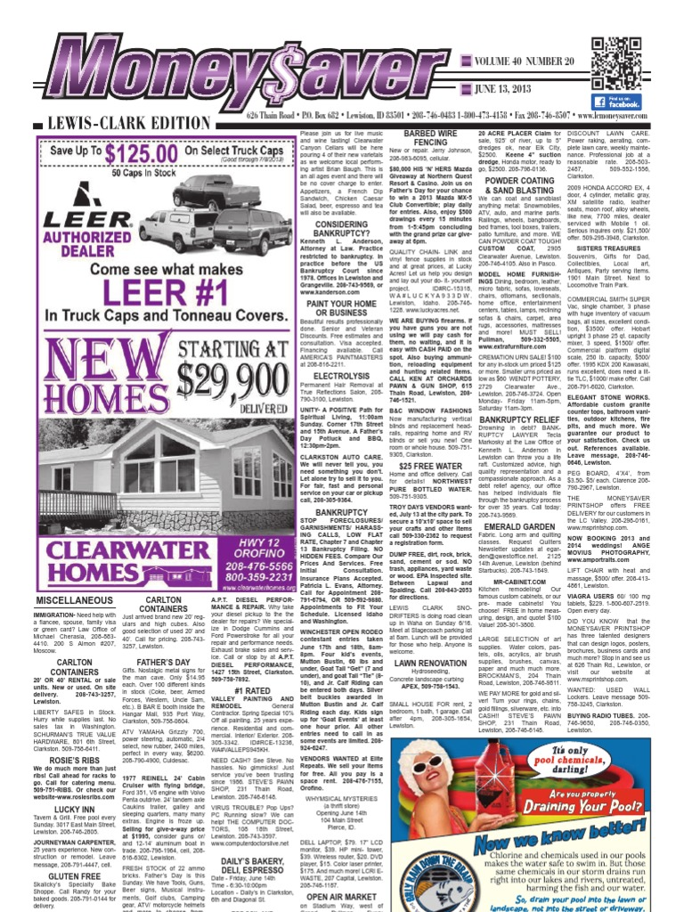 2013-06-13 - Moneysaver - Lewis-Clark Edition   Chair   Flooring