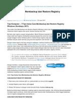 Tips-komputer.com-Tips Instan Cara Membackup Dan Restore Registry Windows