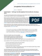 Tips-komputer.com-Tips Jago Cara Meningkatkan Performa Monitor