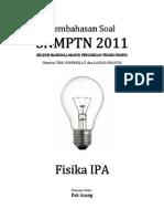 Pembahasan Soal SNMPTN 2011 Fisika IPA Kode 599