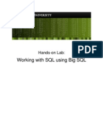 Lab - Working With SQL Using Big SQL v3