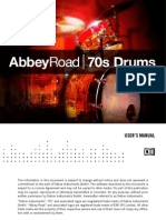 Abbey Road 70s Drums Manual English