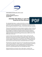 Affordable Mail Alliance 6.12.2013 Press Release