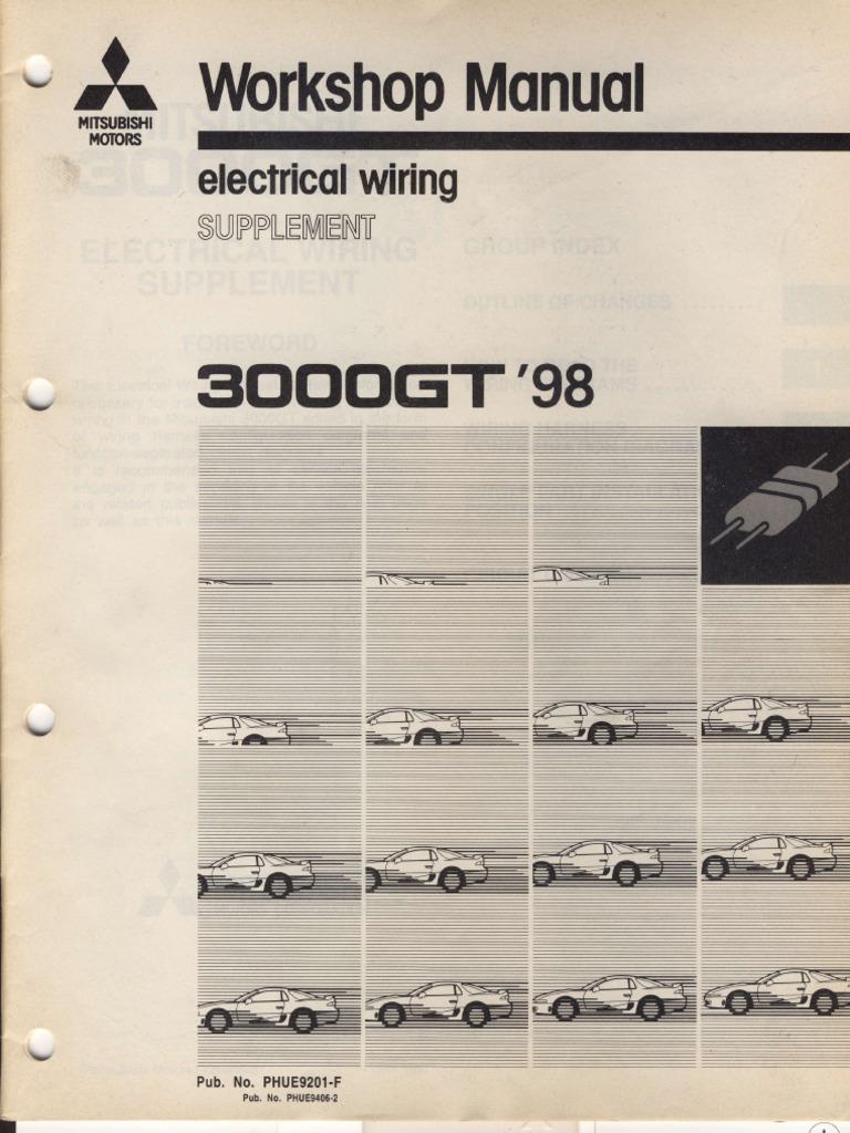 Workshop Manual Electrical Wiring Supplement Mitsubishi ...