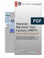 Pakistan Machine Tool Factory Internship Report