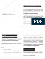 La gestión de la comunicación en las organizaciones. Lic. Florencia Cremona