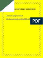 PÁGINA DEL PORTAFOLIO DE SERVICIOS