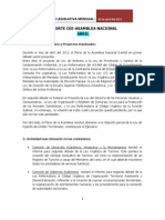 Abril 2013 Reporte Mensual Actividad Legislativa