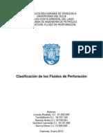 Clasificacion de Los Fluidos de Perforacion