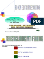 THE ELECTRICAL CONDUCTIVITY OF SOLUTIONS