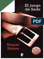 El Juego de Sade - Miquel Esteve