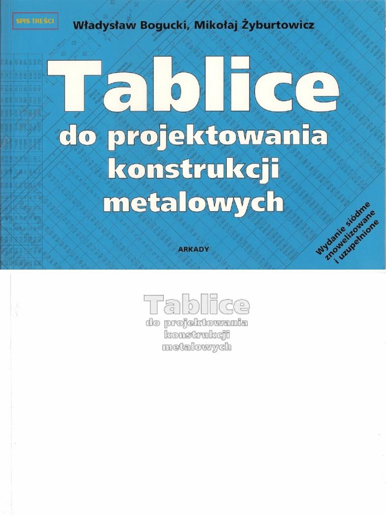 tablice do projektowania konstrukcji metalowych pdf chomikuj