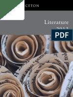 Literature 2013 Catalog