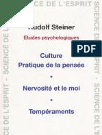 Rudolf Steiner - Etudes Psychologiques