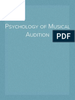 Psychology of Musical Audition