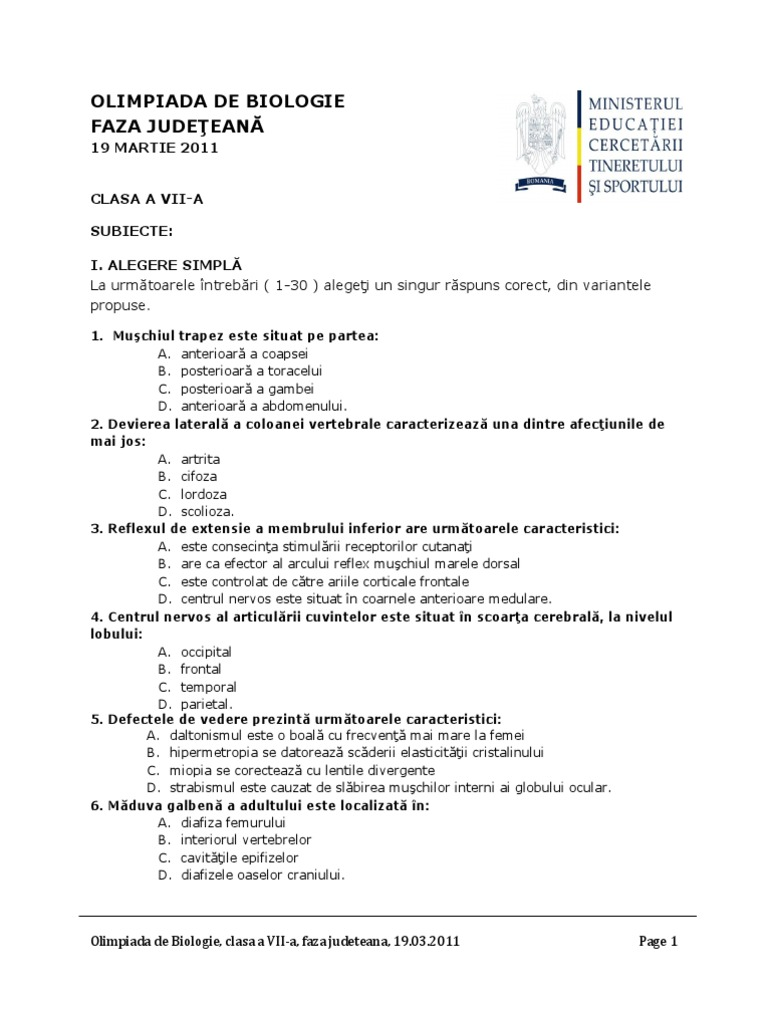 Subiecte olimpiada biologie cl 7a summary the fall of the house of usher