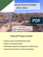 Ozone studies in Utah
