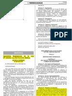 DS N°003-2013-DE Reglamento de la Ley Nº 29248, Ley del Servicio Militar