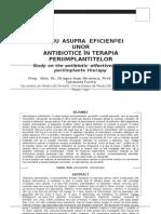 Studiu Asupra Eficientei Unor Antibiotice in Terapia Periimplantitelor