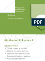 eB - Lecture 7 - Online Auctions