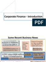 1 Corporate Finance Introduction