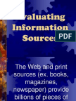 evaluating informational sources2