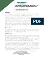 COMPORTAMIENTO DE LAS VARIABLES DE DISEÑO DEL MÉTODO DE LA P