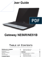 Gateway NE56R / NE51B User Guide / Manual
