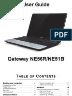 Gateway NE56R / NE51B User Guide / Manual