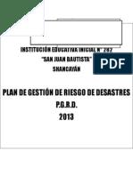 Plan de Gestión de Riesgo de Desastres 2013- IEI N° 282 San Juan Bautista