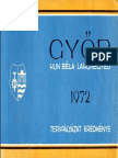 Győr, Kun Béla lakónegyed tervpályázat eredménye, 1972