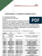 Cronograma Cta 2013 -2