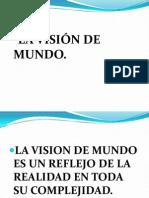 VISIÓN DE MUNDO EN LITERATURA