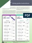 V-gel Sizing Chart