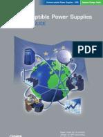 Uninterruptible Power Supplies European GUide