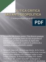Curs VII - Geopolitica Critica