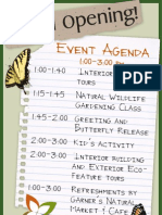 Elements Grand Opening Agenda