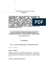 A C U E R D O  028 de 2003 PBOT-impreso con índice