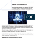 Kalau Lupa Security Question Dan Password Email