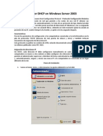 Servidor DHCP en Windows Server 2003