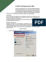 Servidor DHCP en Windows Server 2003