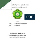 Penentuan Kadar Papaverini Hydrochloridum Menggunakan Metode Argentometri