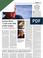 Luciano Berio (L'Arte Come Sfida a Tutto Campo) - Giornale Di Brescia