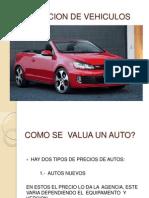 Valuacion de Vehiculos
