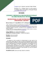 Lesiones y medidas de prevención en patinaje en línea recreativo. Revisión