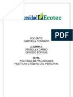 158 2012D RHH353 Politicas de Vacaciones